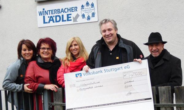 Winterbacher Lädle Scheckübergabe 2017