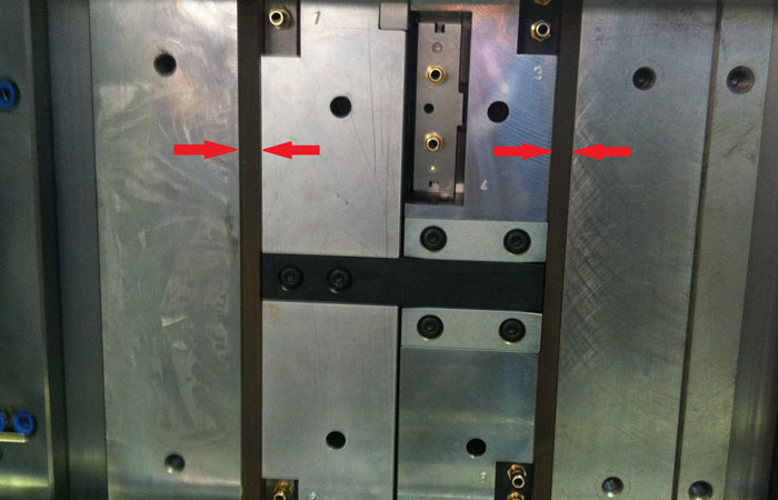 Insulation plates in mold