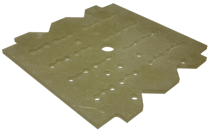 White heat insulation plate
