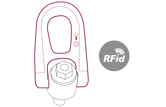 Lifting technology with RFID